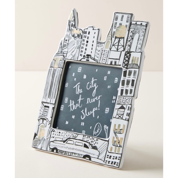 """NEW ANTHROPOLOGIE 4"""" x 6"""" NYC Picture Frame"""